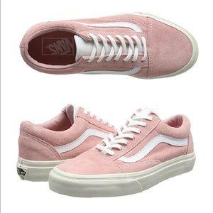 Vans Old Skool Pink Suede Shoes